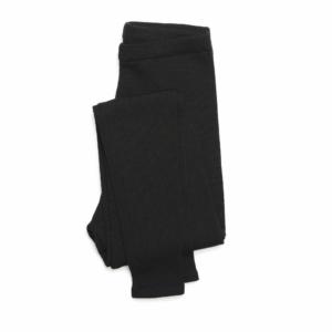 billede af leggings i sort merino farve