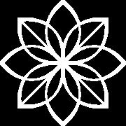 billede af Yoganic logo - blomst i hvid farve